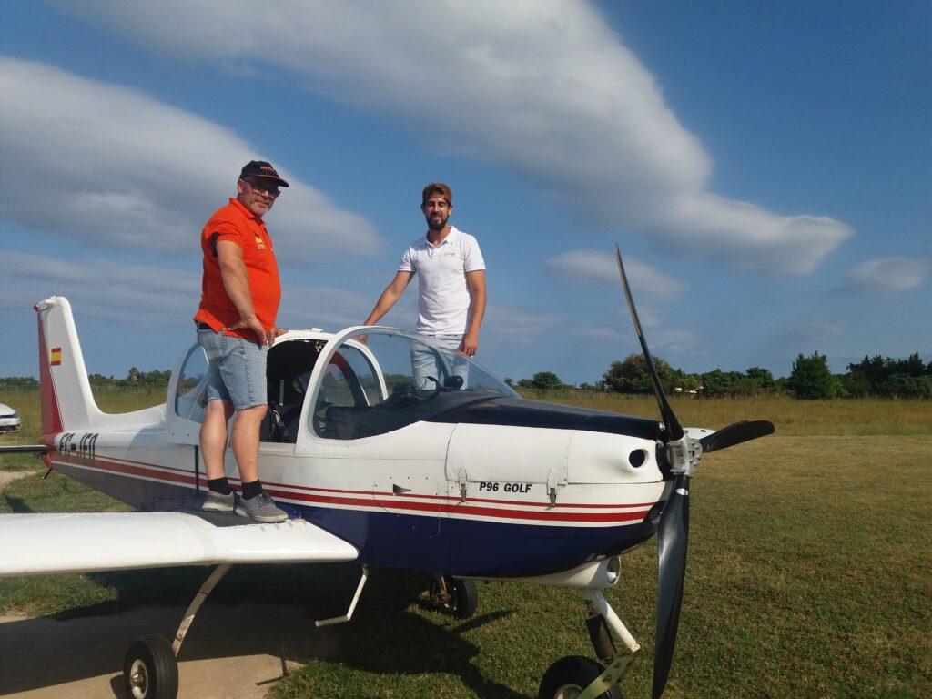 Preparando las classes de vuelo en tecnam p 96